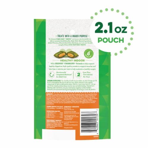 Feline Greenies™ Smartbites™ Hairball Control Chicken Flavor Cat Treats Perspective: back