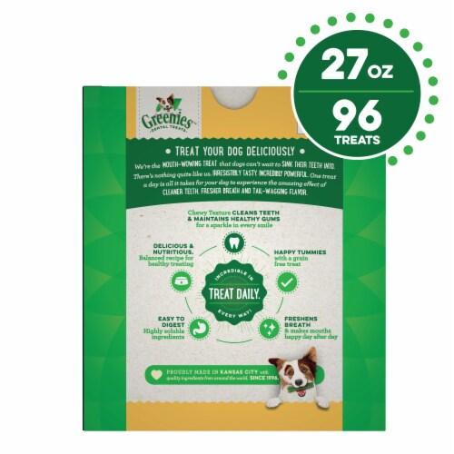 Greenies Grain Free Teenie Dog Dental Treats Perspective: back
