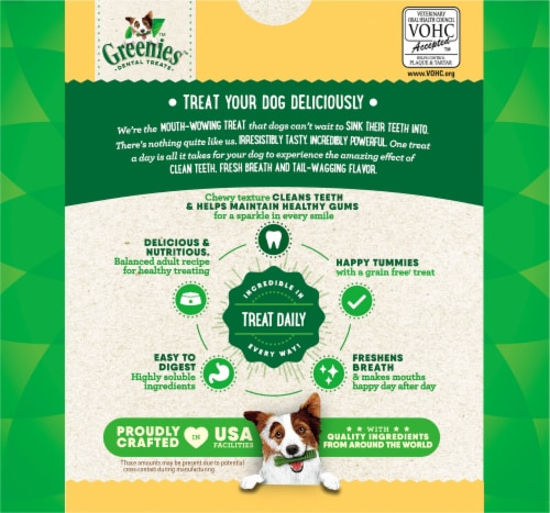 Greenies Grain Free Regular Dog Dental Treats Value Pack Perspective: back