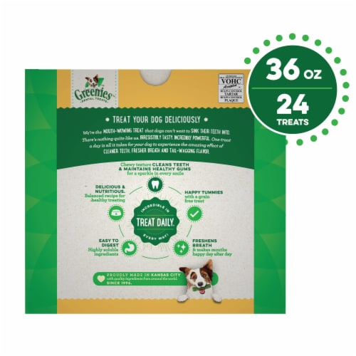 Greenies Grain Free Large Dental Treats Value Pack Perspective: back