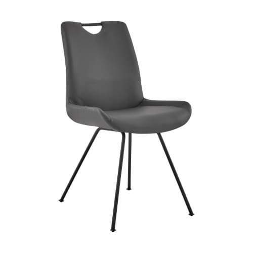 Armen Living Coronado Faux Leather Dining Side Chair (Set of 2) Perspective: back