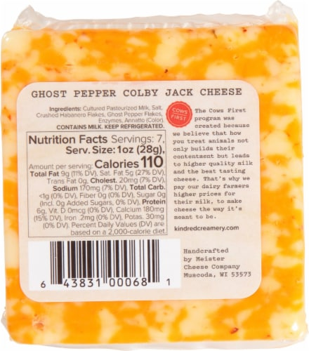 KINDRed Creamery Ghost Pepper Colby Jack Cheese Perspective: back