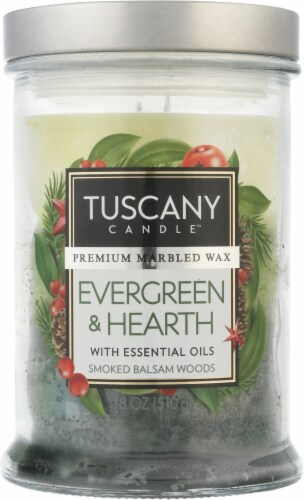 Tuscany Limited Edition Evergreen & Hearth Jar Candle Perspective: back