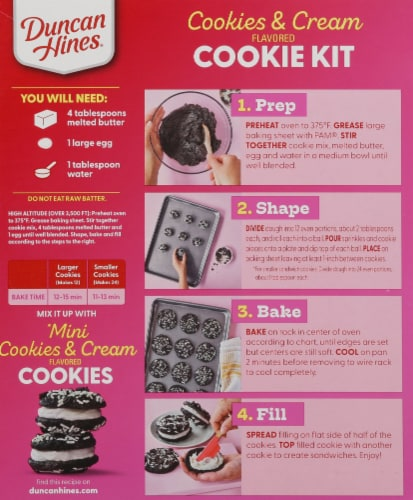 Duncan Hines Epic Cookies & Cream Flavored Cookie Mix Kit Perspective: back
