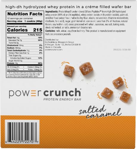 Power Crunch Salted Caramel Protein Energy Bars Perspective: back