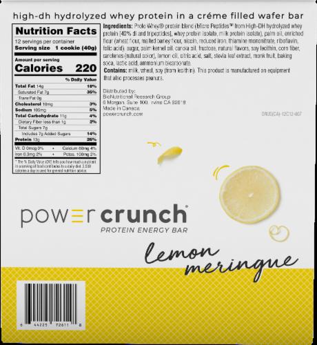 Power Crunch® Lemon Meringue Protein Energy Bar Perspective: back