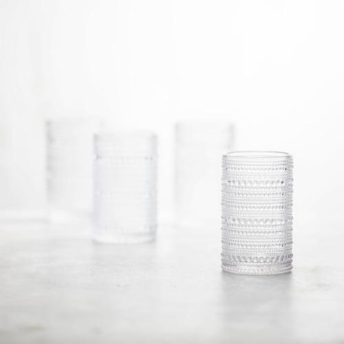 FORTESSA D&V Jupiter Iced Beverage Cocktail Glasses - 6 Pack - Clear Perspective: back