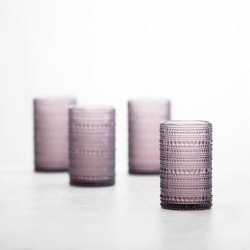 FORTESSA D&V Jupiter Iced Beverage Cocktail Glasses - 6 Pack - Purple Perspective: back