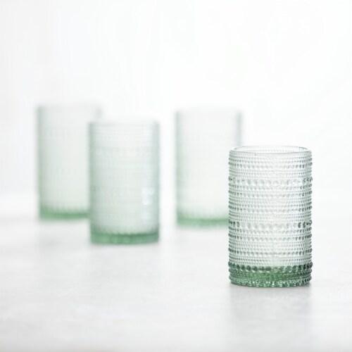 FORTESSA D&V Jupiter Double Old-Fashioned Beverage Glasses - 6 Pack - Sage Perspective: back