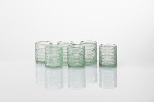 FORTESSA D&V Jupiter Double Old-Fashioned Glasses - 6 Pack - Sage Perspective: back