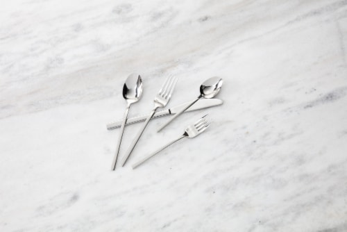 FORTESSA Theo Collection Stainless Steel Flatware Set Perspective: back