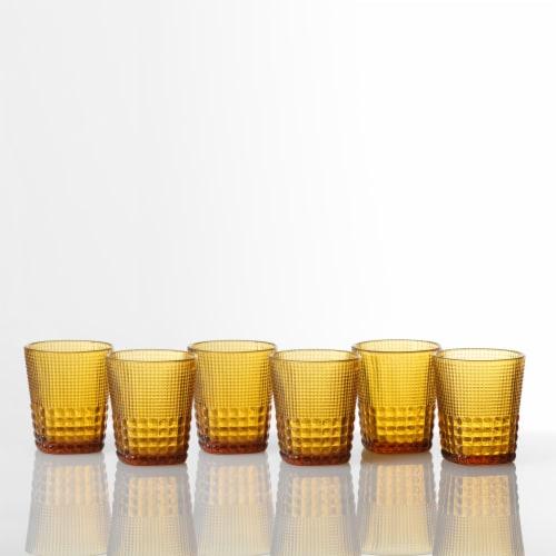 FORTESSA D&V Malcolm Double Old-Fashioned Beverage Glasses - 6 Pack - Amber Perspective: back