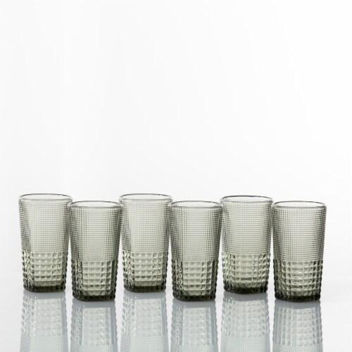 FORTESSA D&V Malcolm Iced Beverage Cocktail Glasses - 6 Pack - Gray Perspective: back