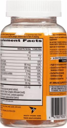 Airborne Honey Lemon Immune Support Supplement Gummies Perspective: back