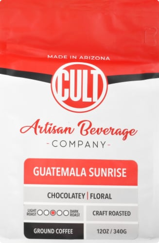 CULT Guatemala Sunrise Ground Coffee Perspective: back