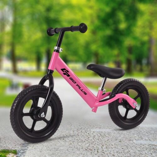 Goplus 12'' Balance Bike Classic Kids No-Pedal Learn To Ride Pre Bike w/ Adjustable Seat Perspective: back