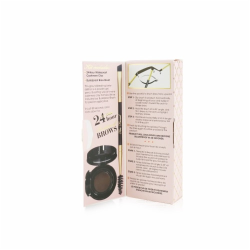 Too Faced Bulletproof Brows 24H Waterproof Cashmere Clay With Brush  # Universal Brunette 2pc Perspective: back