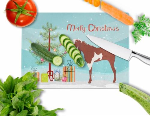 Jamnapari Goat Christmas Glass Cutting Board Large Perspective: back