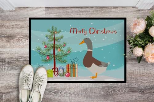 Saxony Sachsenente Duck Christmas Indoor or Outdoor Mat 18x27 Perspective: back