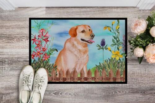Labrador Retriever Spring Indoor or Outdoor Mat 24x36 Perspective: back