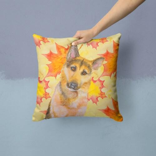 German Shepherd #2 Fall Fabric Decorative Pillow Perspective: back