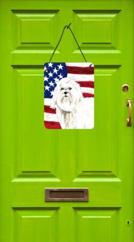 Patriotic USA Maltese Wall or Door Hanging Prints Perspective: back