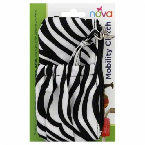 Nova Mobility Clutch - Zebra Perspective: back