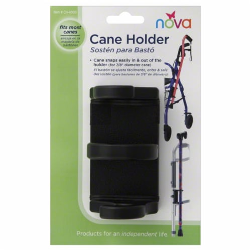 Nova Cane Holder for Folding Walkers & Rolling Walkers Perspective: back
