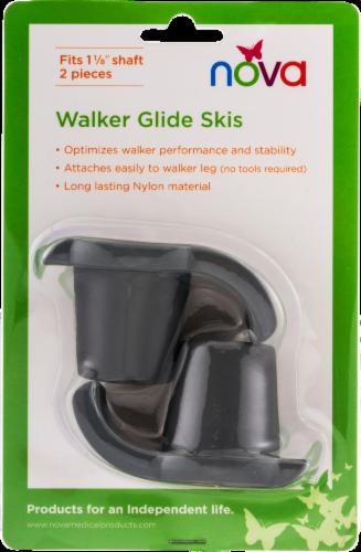 "Nova Walker Glide Skis 1+1/8"" - Gray Perspective: back"