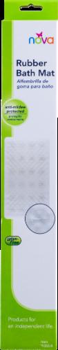 Nova Rubber Bath Mat - White Shell Perspective: back