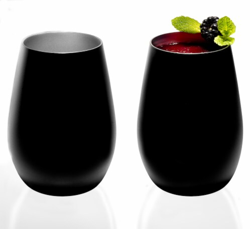 Stolzle Lausitz Olympia Tumbler - Matte Black/Silver Perspective: back