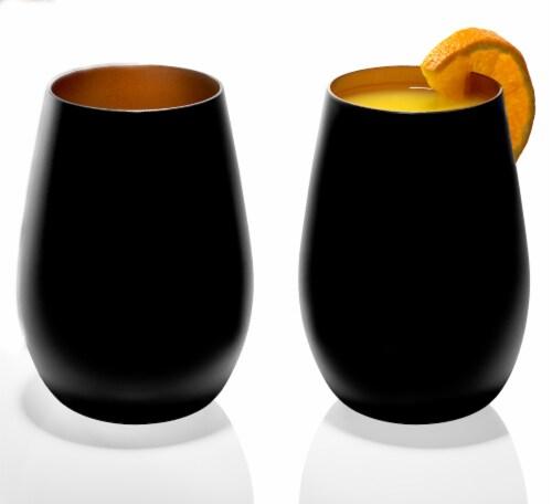 Stolzle Lausitz Olympia Tumbler - Matte Black/Bronze Perspective: back