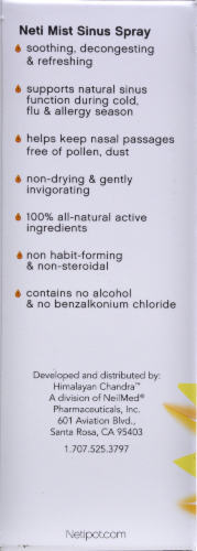 Himalayan Chandra Tangerine-Ginger Homeopathic Neti-Mist Sinus Spray Perspective: back