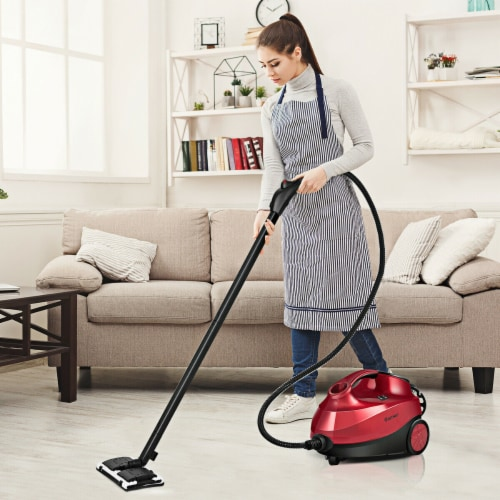Costway 2000W Heavy Duty Steam Cleaner Mop Multi-Purpose W/19 Accessories 4.0 Bar 1.5L Perspective: back
