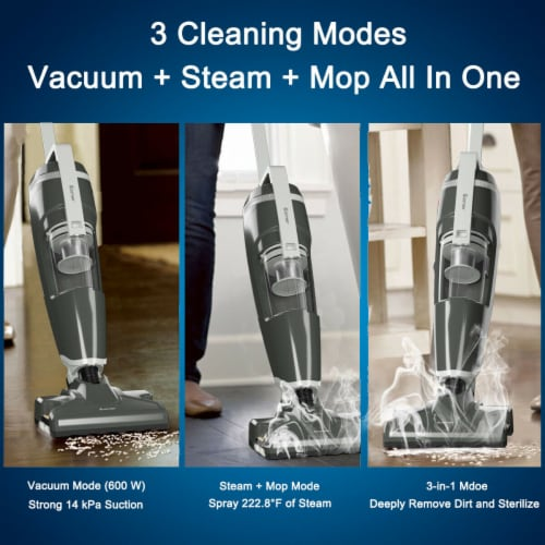 Costway Lightweight Upright Vacuum Cleaner Steam Mop Wet-Dry Vacuum Perspective: back