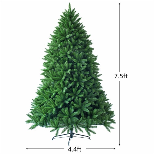 Costway 7.5ft Artificial Christmas Fir Tree 1968 Branch Tips Perspective: back
