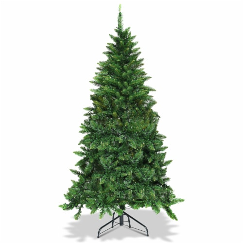 Costway 5ft Pre-lit PVC Artificial Half Christmas Tree 250 LED Lights Perspective: back