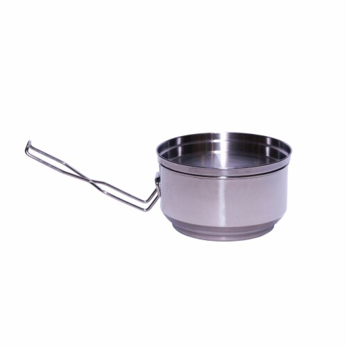 QuickStove Portable Stainless Steel Camp Cook Pot Perspective: back