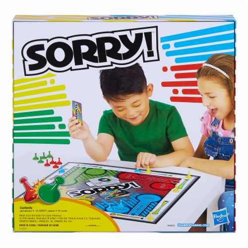 Hasbro Sorry! Board Game Perspective: back