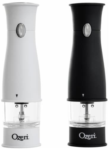Ozeri Artesio Soft Touch Electric Pepper Mill and Grinder, BPA-Free Perspective: back