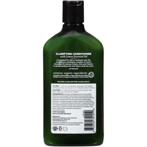 Avalon Organics Lemon Clarify Conditioner Perspective: back