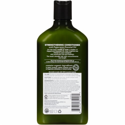 Avalon Organics® Strengthening Peppermint Conditioner Perspective: back