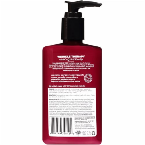 Avalon Organics® Wrinkle Therapy Cleansing Milk Perspective: back