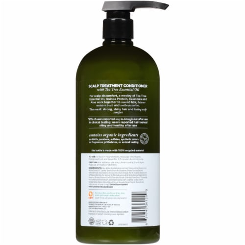 Avalon Organics Scalp Treatment Tea Tree Conditioner Perspective: back