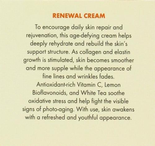 Avalon Organics Vitamin C Renewal Cream Perspective: back
