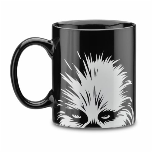 Select Brands Star Wars Chewie 1-Cup Coffee Maker with Mug - Black/White Perspective: back