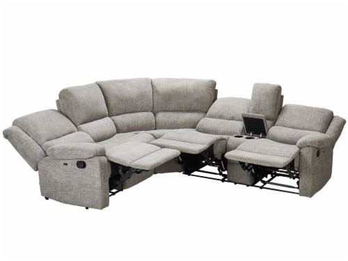 Living Style Nealy Sofa Sectional Couch - Gray Perspective: back