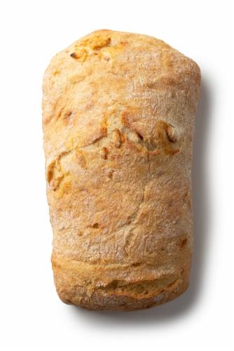 Izzio Artisan Bakery Garlic Ciabatta Bread Perspective: back