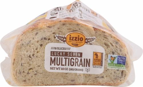 Izzio Lucky 7 Multigrain Sliced Bread 8 Count Perspective: back