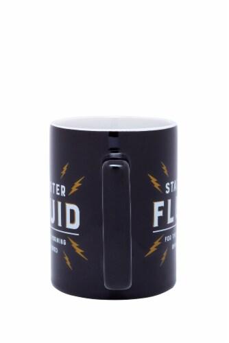 Pacific Market International Starter Fluid Square Handle Mug - Black Perspective: back